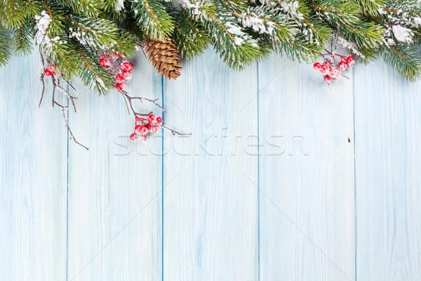 Noël bois neige résumé fond Photo stock © karandaev