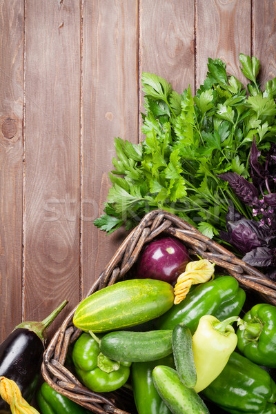Fresh farmers garden vegetables and herbs Stock photo © karandaev