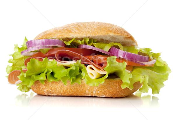 Küçük sandviç jambon peynir domates Stok fotoğraf © karandaev