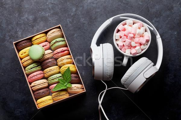 Сток-фото: красочный · шкатулке · наушники · каменные · таблице · Sweet