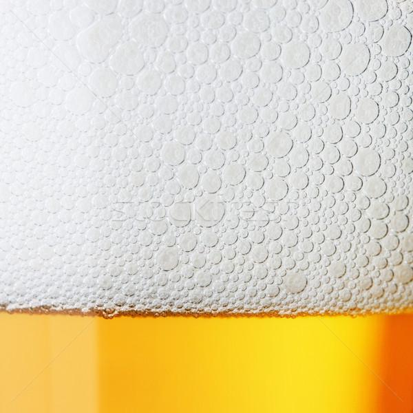 Macro beer with froth Stock photo © karandaev