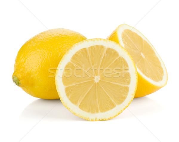 Rijp citroenen geïsoleerd witte vruchten zomer Stockfoto © karandaev