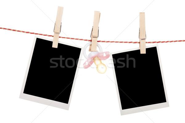 インスタント 写真 フレーム おしゃぶり 絞首刑 ストックフォト © karandaev
