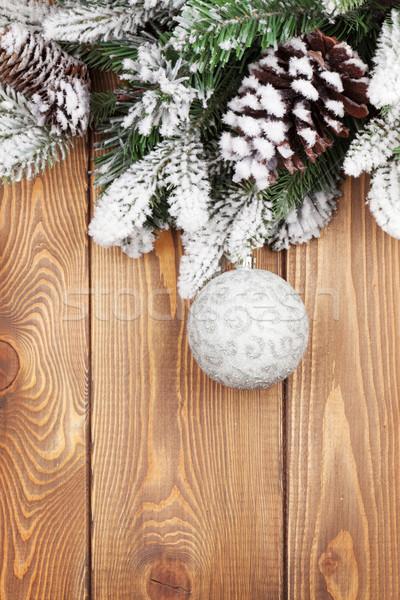 Natal neve bugiganga rústico Foto stock © karandaev