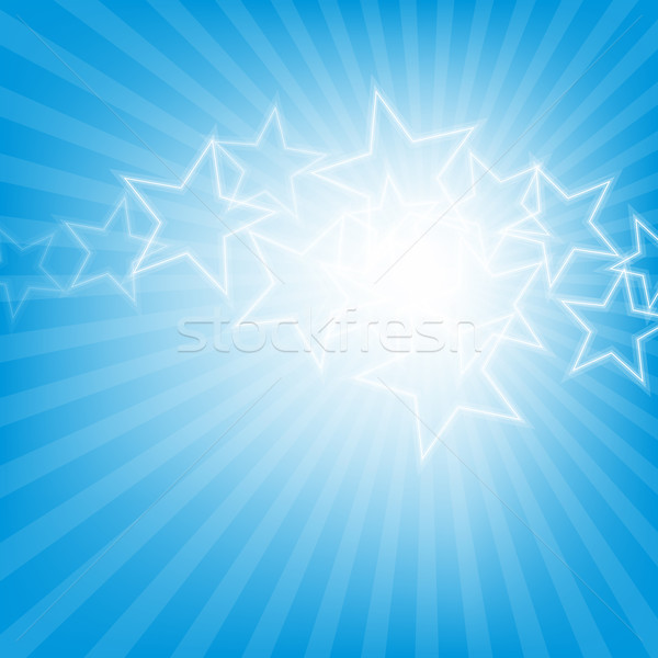 Abstract glowing stars colorful background Stock photo © karandaev