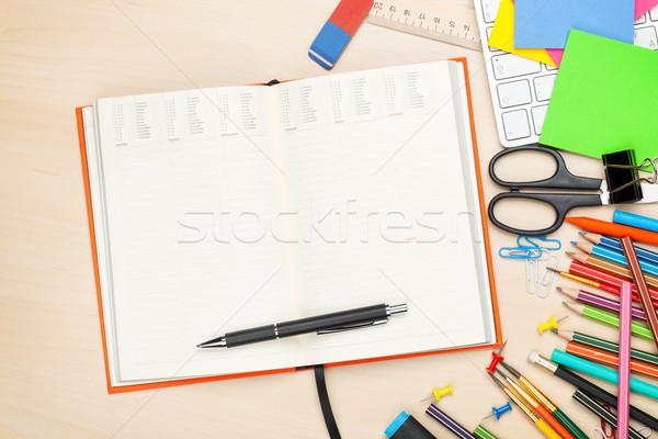 学校 事務用品 オフィス 表 先頭 表示 ストックフォト © karandaev