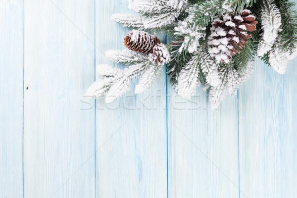 Noël bois neige espace de copie bois Photo stock © karandaev