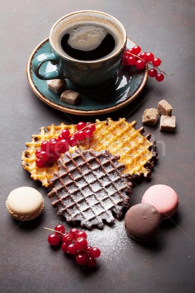 Stockfoto: Koffie · bessen · snoep · voedsel · chocolade · achtergrond