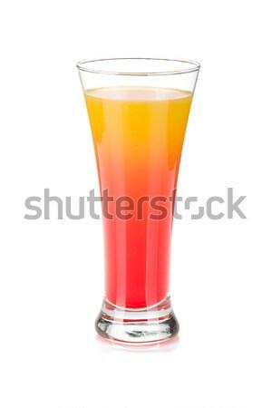 Tequila amanecer cóctel aislado blanco alimentos Foto stock © karandaev