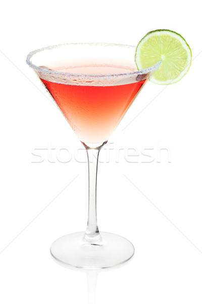Foto stock: Cosmopolita · álcool · coquetel · coleção · isolado · branco