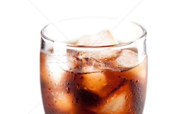 Сток-фото: свежие · холодно · Cola · льда · стекла · изолированный