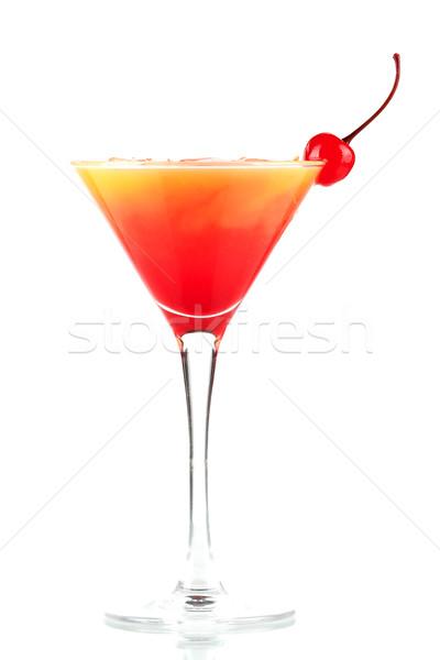 Tequila amanecer alcohol cóctel hielo aislado Foto stock © karandaev