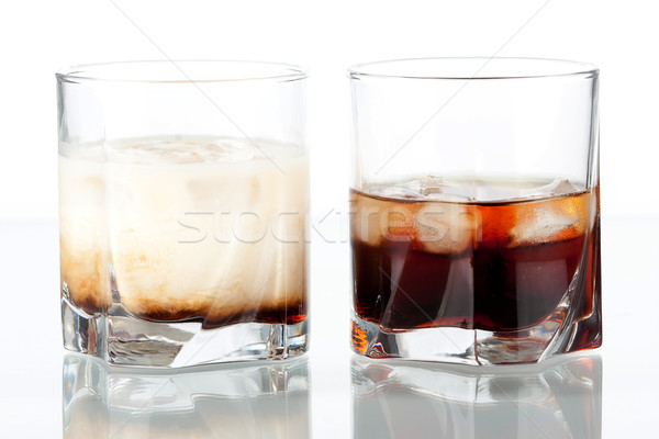 Black russian and white russian cocktails Stock photo © karandaev