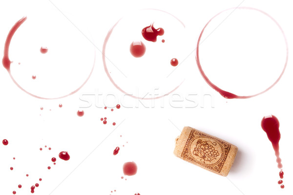 Wine stains and cork Stock photo © karandaev