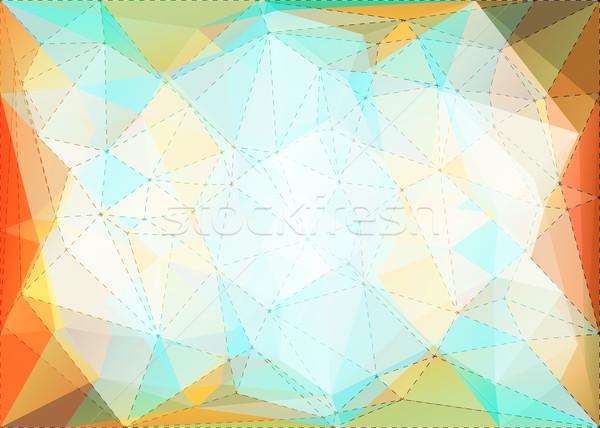Abstract driehoek mozaiek stippel lijn structuur Stockfoto © karandaev