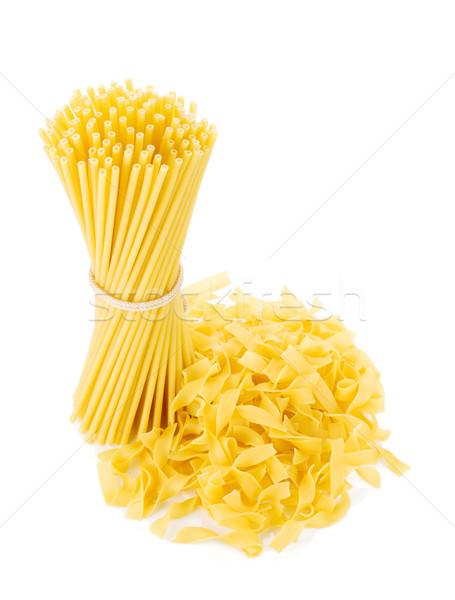 Köteg spagetti izolált fehér háttér tészta Stock fotó © karandaev