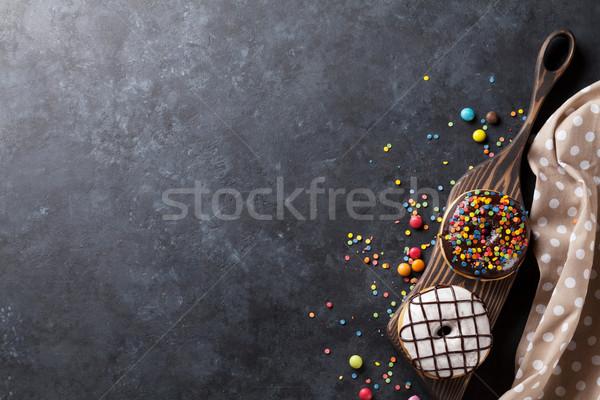 Renkli taş tablo üst Stok fotoğraf © karandaev