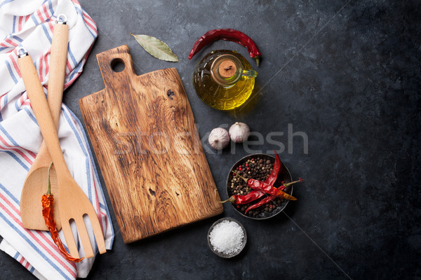 Cooking ingredients and utensils Stock photo © karandaev