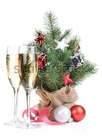 Champanhe dom carta natal decoração Foto stock © karandaev