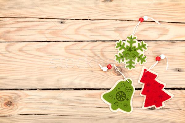 Noël bois espace de copie texture bois Photo stock © karandaev
