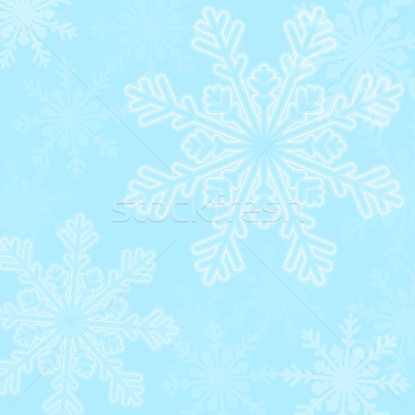 Abstract blue christmas snowflakes background Stock photo © karandaev
