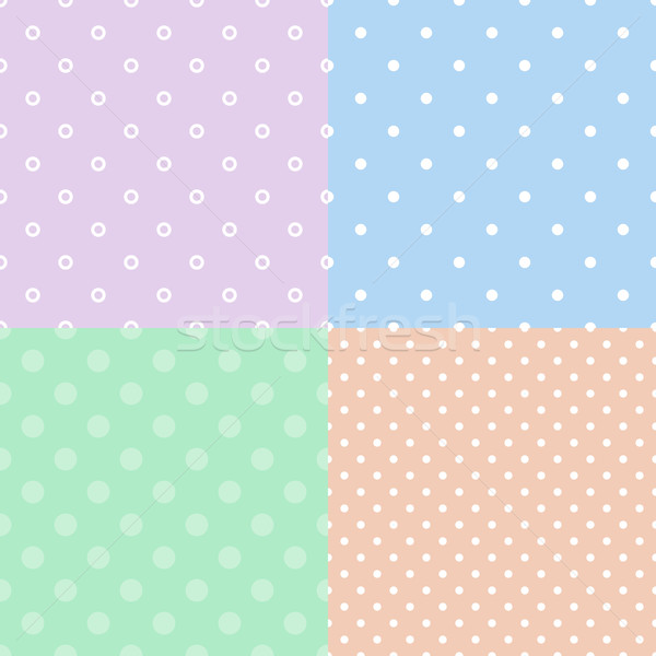 Colorful polka dot seamless pattern Stock photo © karandaev
