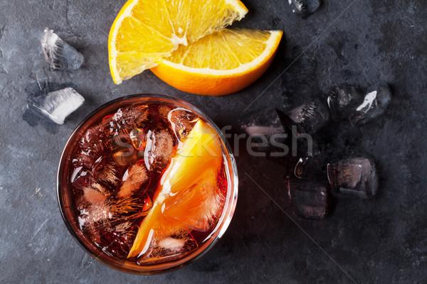 Negroni cocktail Stock photo © karandaev