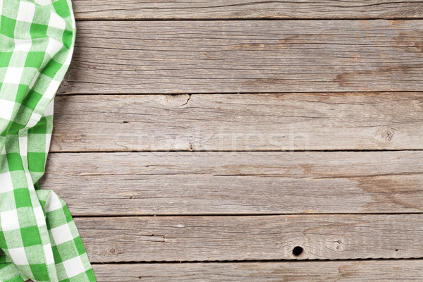 Kitchen towel on table Stock photo © karandaev