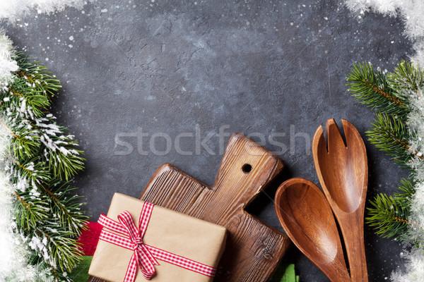 クリスマス 料理 表 ギフトボックス 先頭 ストックフォト © karandaev