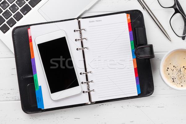 Ofis işyeri tablo dizüstü bilgisayar Stok fotoğraf © karandaev