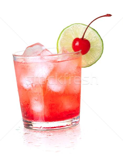 Alcohol cocktail with maraschino and lime Stock photo © karandaev