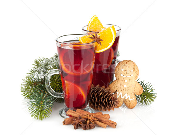 Christmas mulled wine with spices Stock photo © karandaev
