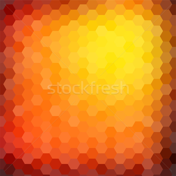Abstract hexagon mosaic gradient background Stock photo © karandaev