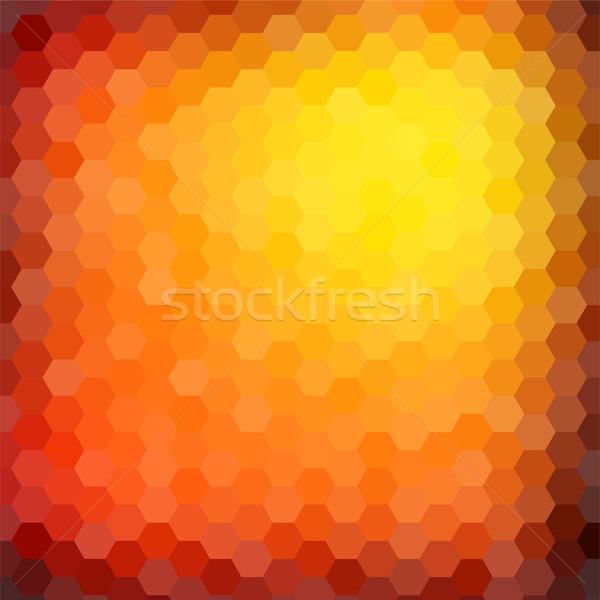 Absztrakt hatszög mozaik gradiens színes üzlet Stock fotó © karandaev