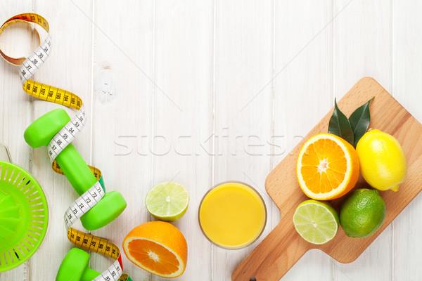 цитрусовые плодов рулетка апельсинов лимоны здоровое питание Сток-фото © karandaev