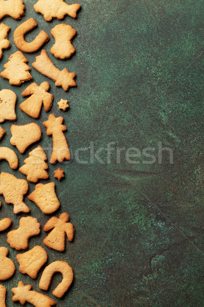 Christmas background with cookies Stock photo © karandaev