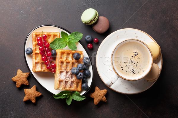 кофе конфеты Ягоды Top мнение продовольствие Сток-фото © karandaev