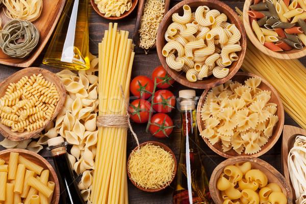 ストックフォト: パスタ · 料理 · 先頭 · 表示 · 表