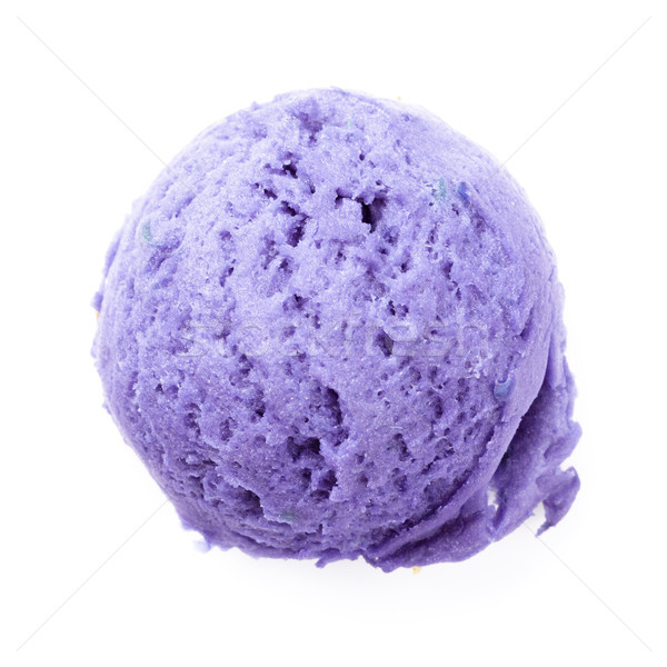 Blueberry ice cream scoop Stock photo © karandaev