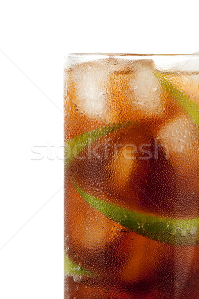 Cuba libre alcohol cocktail Stock photo © karandaev