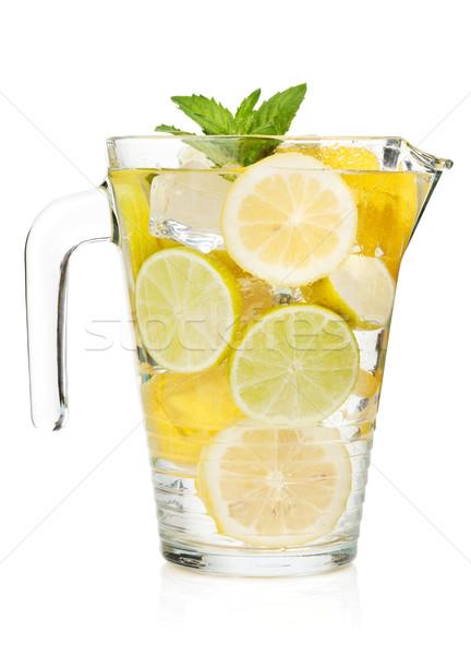 Pitcher with homemade lemonade Stock photo © karandaev