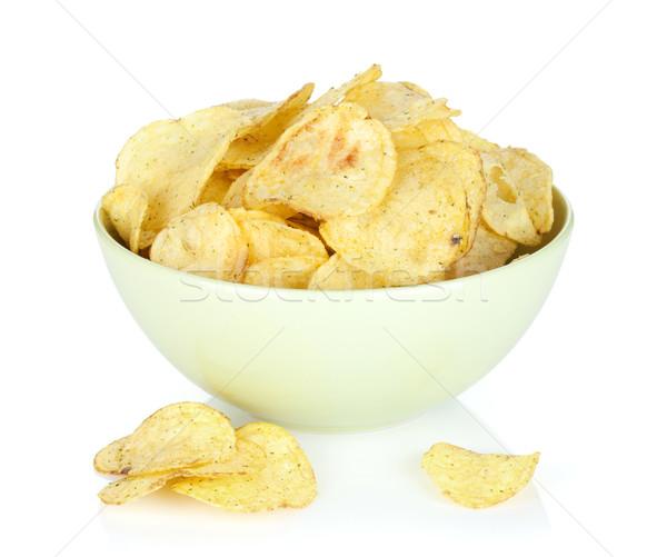 картофельные чипсы чаши изолированный белый вечеринка еды Сток-фото © karandaev