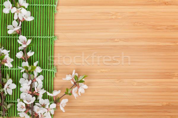 Foto stock: Sakura · ramo · bambu · cópia · espaço · flor · comida