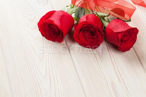 Red roses walentynki tekstury ślub miłości Zdjęcia stock © karandaev