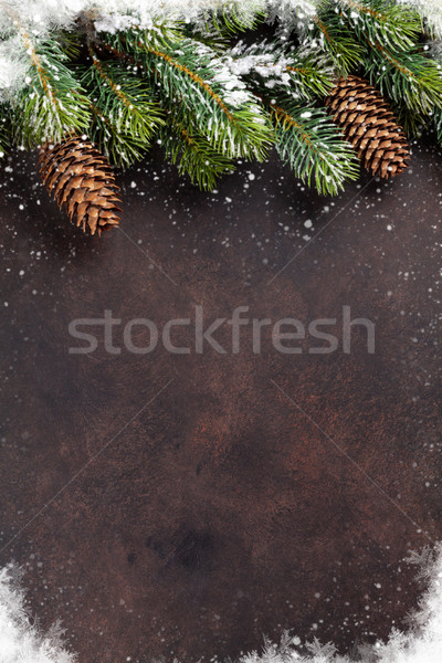 Navidad nieve piedra superior vista Foto stock © karandaev