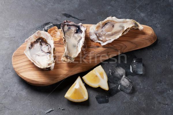 Istiridye limon gıda buz Stok fotoğraf © karandaev