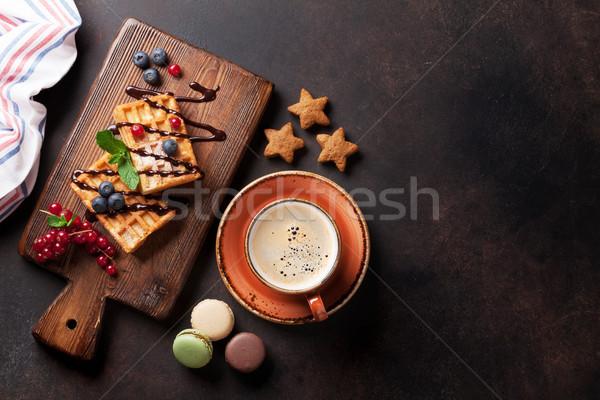 Kahve şekerleme karpuzu üst görmek bo Stok fotoğraf © karandaev