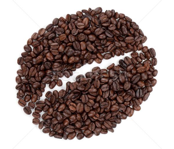 Coffee bean made from beans Stock photo © karandaev