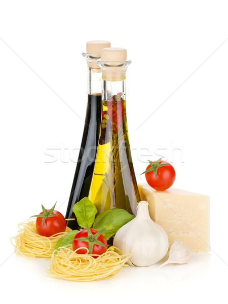пасты помидоров базилик оливкового масла уксус чеснока Сток-фото © karandaev