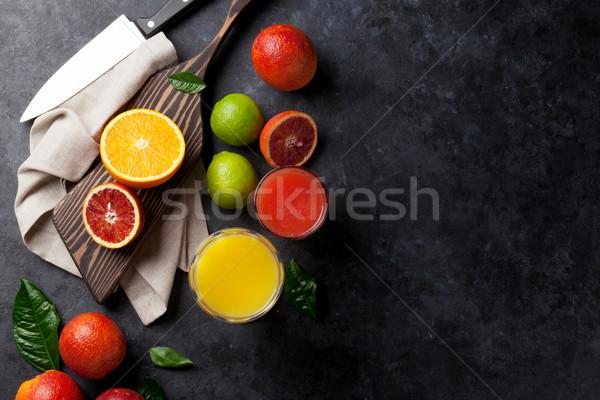 свежие сока темно каменные апельсинов Top Сток-фото © karandaev